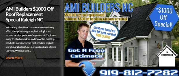 AMI BUILDERS NC Residential Roofing Contractor PRO's in Raleigh